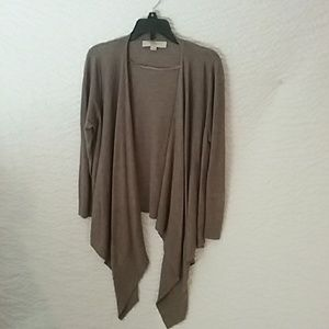 Loft elegant brown cardigan sweater,size small